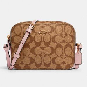 COACH Mini Camera Bag In Signature Canvas (NWT)
